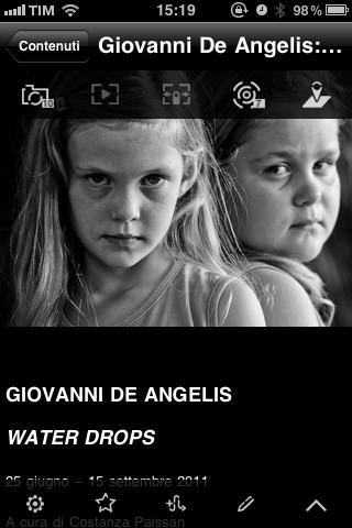 WATER DROPS la mostra nell'APP per iPhone ed iPad