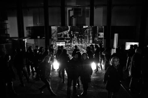 Giovanni De Angelis exhibition at NCP Festival - Shibuya Crossing photographic installation