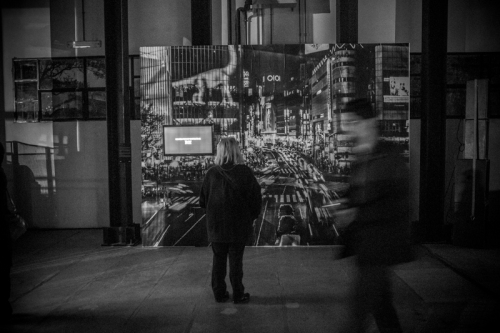 Giovanni De Angelis exhibition at NCP Festival - Shibuya Crossing photographic installation