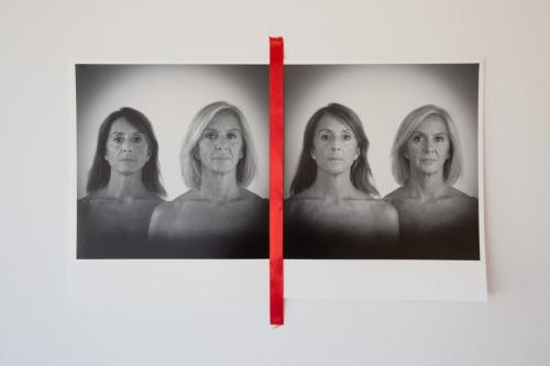 SOGNO IDEALE - part 2 fine-art print su carta cotone hahnemulle n. 2 stampe 24x24cm e nastro rosso in seta